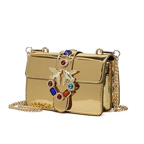 Diamante Tendencia De Fiesta De Bolso Verano Moda De Mujer AJLBT Gold Hombro Casual Golondrina Bolsa Cadena Mensajero Bolsos De IxnE8WOq