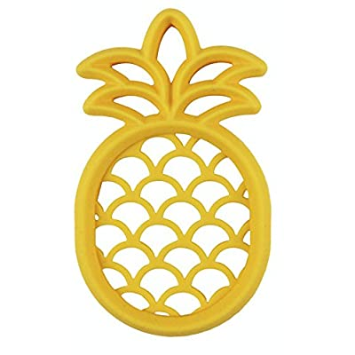 Itzy Ritzy Silicone Baby Teether – BPA-Free Infant Teether with Easy-to-Hold Design and Textured Back Side to Massage and Soothe Sore, Swollen Gums, Pineapple : Baby