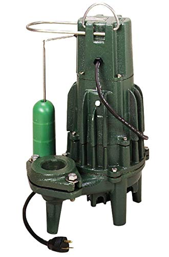 Zoeller 284-0004 Non-Automatic Cast Iron Single Phase Submersible Sewage/Effluent Pump