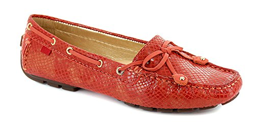 Marc Joseph New York Womens Cipresso Collina Mocassino Arancione Serpente Doro