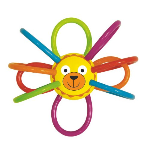 Triangle Clutching Toy - Manhattan Toy Zoo Winkel Lion Rattle and Sensory Teether