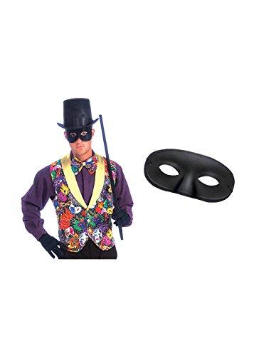 [Mardi Gras Vest Tie and Mask Outfit Set] (Mardi Gras Costumes Vest)
