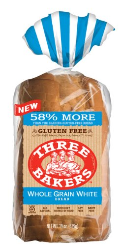 (Three Bakers Gluten Free Whole Grain White Sandwitch Bread (Pack of 3) 19oz)