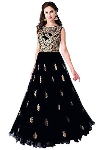Drashti villa Women's Heavy Embroidered Semi Stitched Anarkali Long Gown For Dress(Free Size)