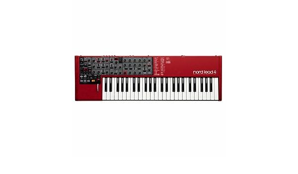 Clavia DMI AB Nord Lead 4 - Teclado MIDI (USB, 86,4 cm, 27,2 cm, 9,4 cm) Negro, Gris, Rojo, Color blanco
