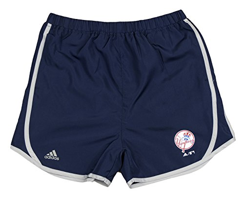 adidas New York Yankees MLB Big Girls Lightweight Charger Shorts, Navy (Medium ()