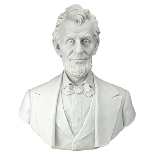 Design Toscano Abraham Lincoln Memorial Bust Bonded Marble Resin Statue, White