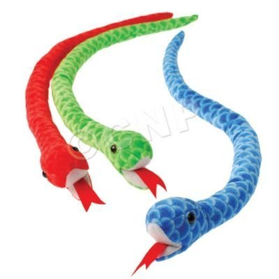 (Assorted Color Plush Stuffed Animal Scaly Scale Design Large Snakes (12))