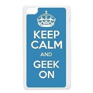 iPod Touch 4 Case White Keep Calm Geek On SJ9484691