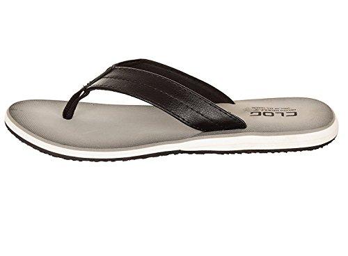 Clog Mens Classical Anti-Skid Flip-Flops, Ultra Light Weight Brown Sandal Grey Black
