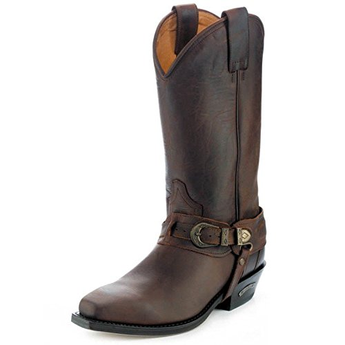 2868cc401a9 Sendra 3452 Man Cowboy Boots Tango Brown Leather Western Biker ...