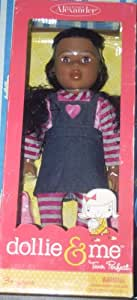 """Dollie & Me / African American 18"""" Doll in Heart Jumper"""