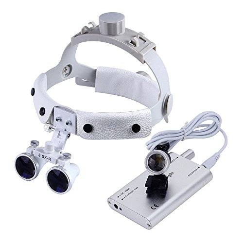 Zgood Dental White LED Head Light + Dental Surgical Glasses Binocular Loupes DY-108 3.5X-R by Zgood (Image #9)