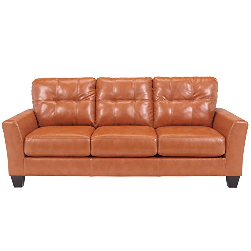 Flash Furniture Benchcraft Paulie Sofa in DuraBlend, Orange