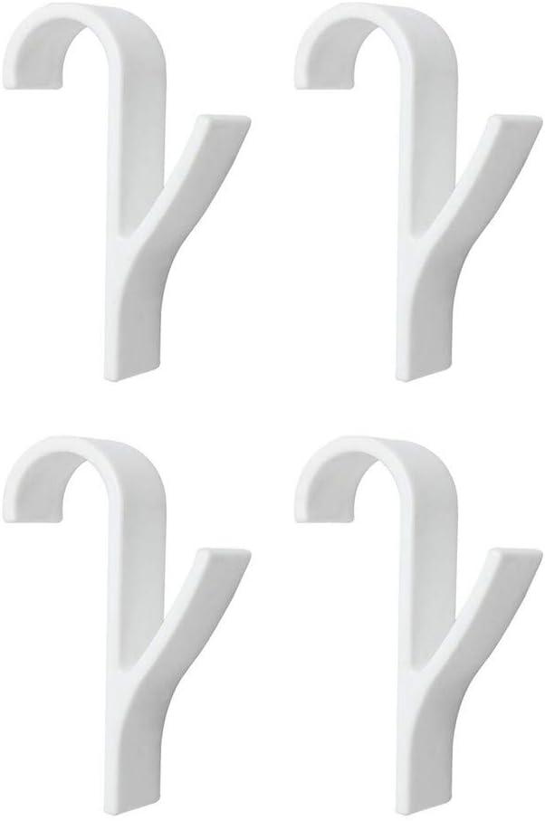Dapei 4pcs PVC Handtuchhalter Haken Kleiderhaken Tür und