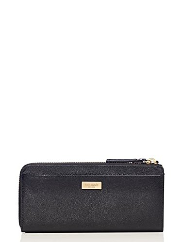 Kate Spade Alice Court Nisha Bow Zip Around Wallet Black