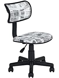 viseeko mid back task chairs no arm design painted for - Desk Chairs For Teens