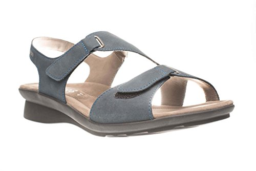 Mephisto Women's Paris Bucksoft 6945 Navy Sandals Blue bHO35