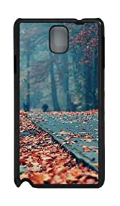 Samsung Galaxy Note 3 N9000 Cases & Covers -Road Deck Autumn Leaves Custom PC Hard Case Cover for Samsung Galaxy Note 3 N9000¨CBlack