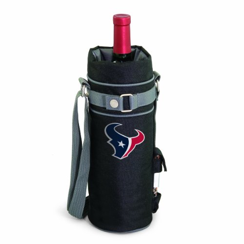 NFL Houston Texans Insulated Single Bottle Wine Sack with (Houston Texans Video Chair)