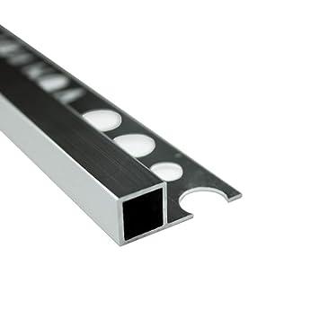 Alu Vierkant Quadro Profil Fliesenschiene Schiene Silber L270cm