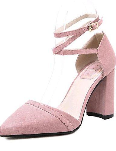 uk6 de pink Casual Rosa Vell¨®n us8 pink Tacones Zapatos eu39 ZQ uk6 Negro black cn39 mujer eu39 Tacones us5 eu35 uk3 Exterior cn34 Tac¨®n cn39 Robusto us8 fq85RT
