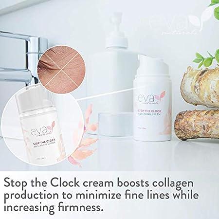 Crema Anti-Edad una Pausa en el Tiempo Eva Naturals (50 ml) - Hidratante Natural de Cara, Reduce Visiblemente Arrugas Dejando una Tez Más Joven