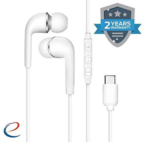 Wonderford Earphone HiFi Chip Digital Lossless Audio Type-C Plug Gold  Galved Half-in-Ear Earphones for MAX2/2/2Pro (Assorted Colour)