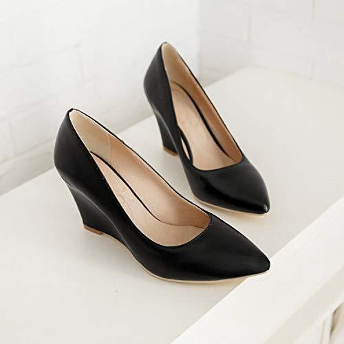 Yukun zapatos de tacón alto Zapatos De Mujer Talón Único Zapatos De Mujer Zapatos De Moda Tacones Altos Maduras Creamy White