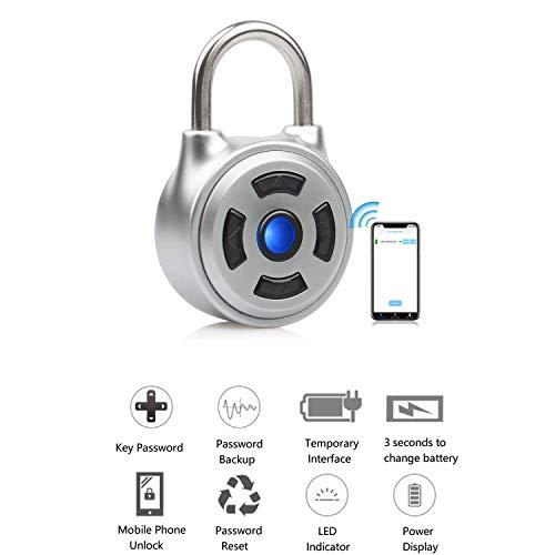 Candado Inteligente con contraseña de Seguridad con Bluetooth para desbloquear la aplicación móvil, combinación...