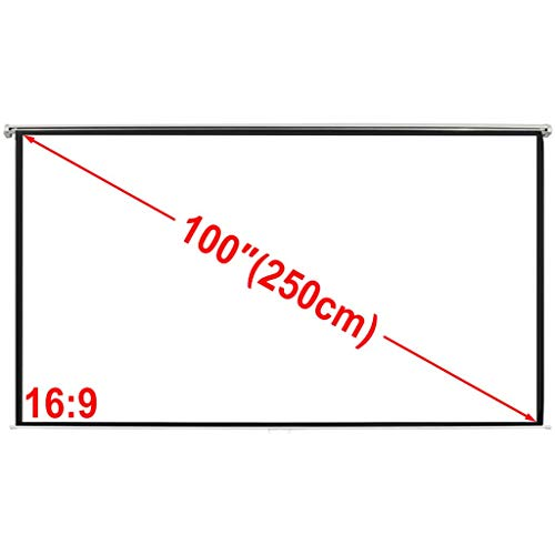 Retrome Manual Projection Screen 200x153 cm Matt White 4:3 Wall Ceiling Mount for School, Theatre, Cinema, Conference Room etc