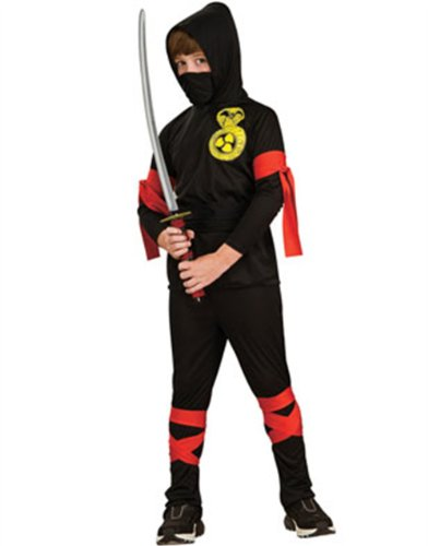 Haunted House Childs Black Ninja Costume