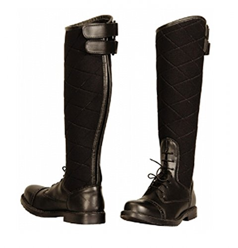 Quilted Women's TuffRider Alpine Boots Field in Leather Synthetic Black E4gOSqwg