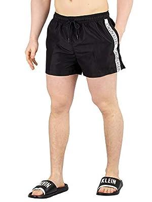 Calvin Klein Men's Short Drawstring Swimshorts, Black