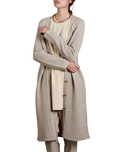 deluxsey Lambswoolブレンドロングラインカーディガン – Open Cardigansの女性セーター