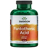 Swanson Pantothenic Acid (Vitamin B-5) Energy Metabolism Nerve Function Support 500 mg 250 Capsules (Caps)