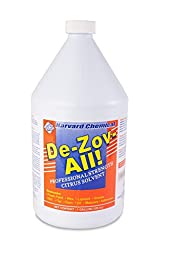 Harvard Chemical - De-Zov-All - D-limonene, Solvent Degreaser, Citrus Fragrance, Booster - 1 Gallon
