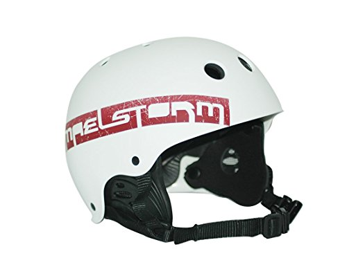 Maelstorm Watersports helmet Aqua Wave Matte White Size L for Kitesurfing Kiteboarding Water Jet Skiing SUP Paddling Boating Canoeing by Maelstorm