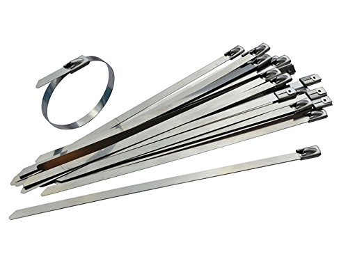Faithfull Stainless Steel Cable Ties 4.6 x 150mm | Pack Of 50