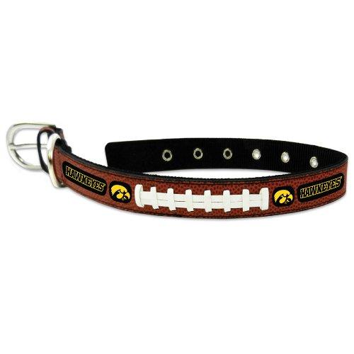 Ncaa Iowa Hawkeyes Leather Football - NCAA Iowa Hawkeyes Classic Leather Football Collar, Medium