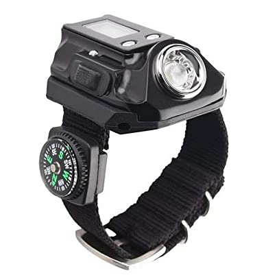 Lkklg Wrist Light Watch Light Charging Wristband Fishing Light Hand Wearing Wrist Light Aluminum Field Field Even Outdoor Light Flashlight Outdoor Lighting With Hand Estimated Price £31.70 -