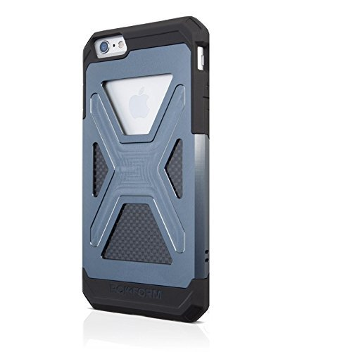 Rokform Fuzion iPhone 6/6s Aluminum & Carbon Fiber Dual Layer Protective Case. Made in USA (Gun Metal Anodized - Al Mobile Usa Metals
