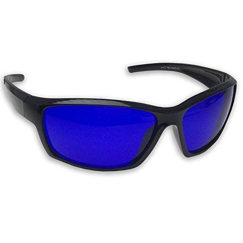 Golf Ball Finder Glasses - Wrap Around Sports Blue Lens Sunglasses for Men - Sunglasses Golf Ball Finder