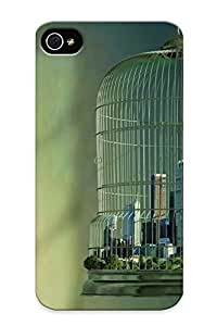 0283e662836 Tough Iphone 4/4s Case Cover/ Case For Iphone 4/4s(bird Cage City) / New Year's Day's Gift