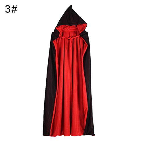 LUYANhapy9 Halloween Kids Hooded Witch Realistic Horro Wizard Vampire Cloak Cosplay Costume Cape Gown Robe - L Hooded Double Layers Collar -