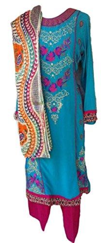 HilalPlaza Karachi Embroidered Eid Shalwar Kameez - Bust 40