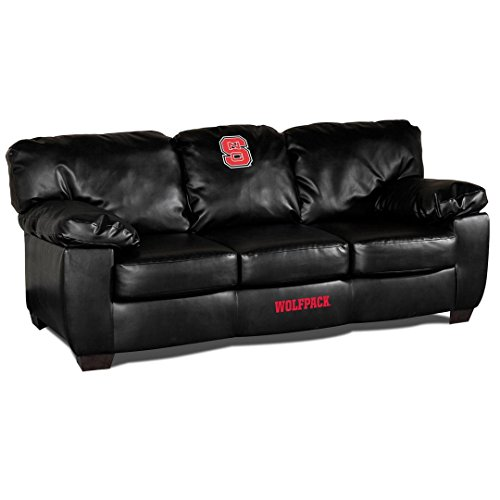 NCAA North Carolina State University Leather Classic Sofa, One Size, Multicolor by Imperial