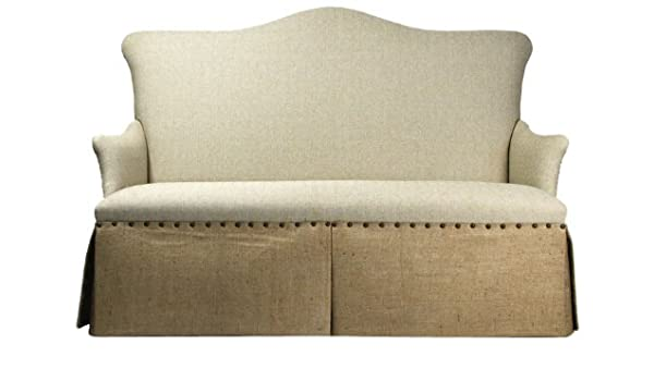 Amazon.com: Zentique 3-Seater Skirted Sofa: Kitchen & Dining