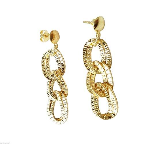 Bijoutier Centre or-Boucles d'oreilles pendantes en Or jaune 18carats (750/000) Gr. 2,40