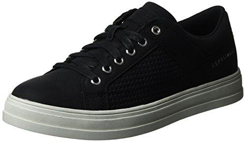 Esprit Sidney Perf Lace Up, Zapatillas para Mujer Negro (black 001)
